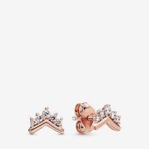 PANDORA Tiara Wishbone Stud Earrings
